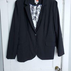 Old Navy Black Blazer size XXL 2 front pockets